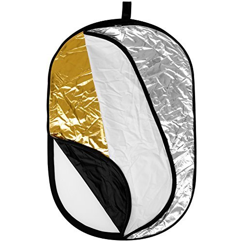 Neewer Portable 5 in 1 59''x79''/150x200cm Translucent, Silver, Gold, White, and Black Collapsible Round Multi Disc Light Reflector for Studio or any Photography Situation by Neewer (Image #3)