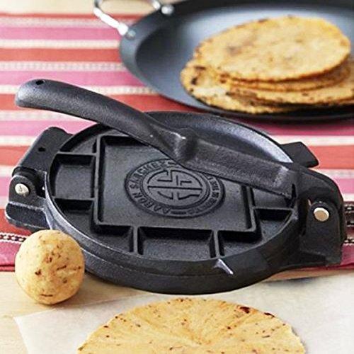 Tortilla Press 7.5'' Inch Heavy Cast Iron NEW Tortilla Maker Authentic Tortillas