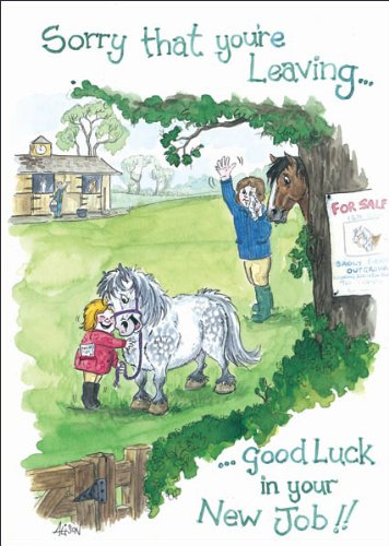 Good luck in your new job humorous horse themed greeting card good luck in your new job humorous horse themed greeting card m4hsunfo