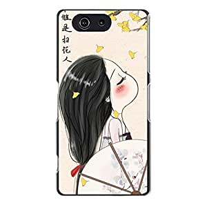 Awesome Sony Xperia Z3 Compact Back Cover Gorgeous Unique Beautiful Girl Pattern Phone Case Fit for Sony Xperia Z3 Compact