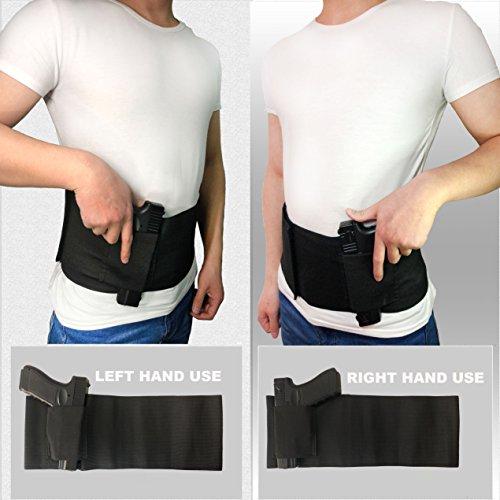 DecoDeco Belly Band Holster Ceinture gaucher Epaule Airsoft, Pistolet à Main élastique pour Pistolets Revolvers pour… 4