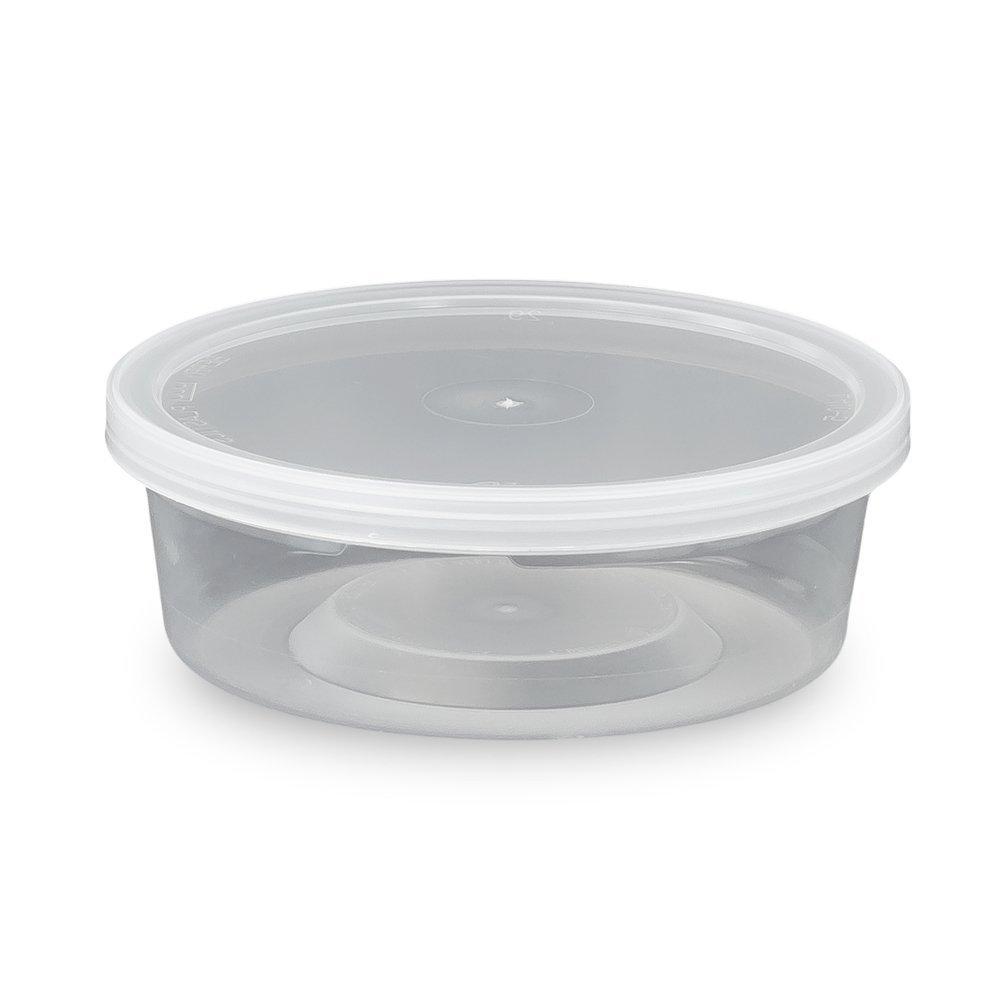 食品用容器とふた 円形 8オンス さまざまな色/ふたの種類/数量でご用意Single Seal MPT41008CP-779725_L410-819222QTY50 B01KKFRXLI Single Seal|Clarified 50 Pack