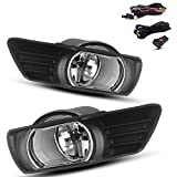 2007 toyota headlight covers - AUTOSAVER88 Fog Lights H11 12V 55W Halogen Lamp for 2007 2008 2009 Toyota Camry Clear Glass Lens with (Wiring and Switch Kit)