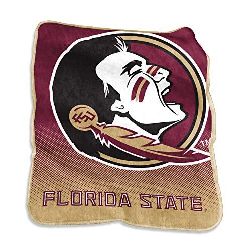 Logo Brands NCAA Florida State Seminoles Unisex Raschel Throwraschel Throw, Maroon, - Plush Florida State