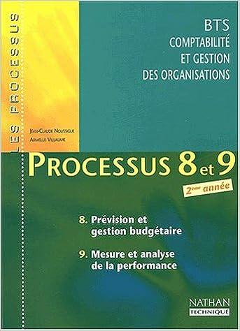 Télécharger en ligne Processus 8 et 9 BTS CGO 2ème année. Prévision et gestion budgétaire, Mesure et analyse de la performance pdf ebook