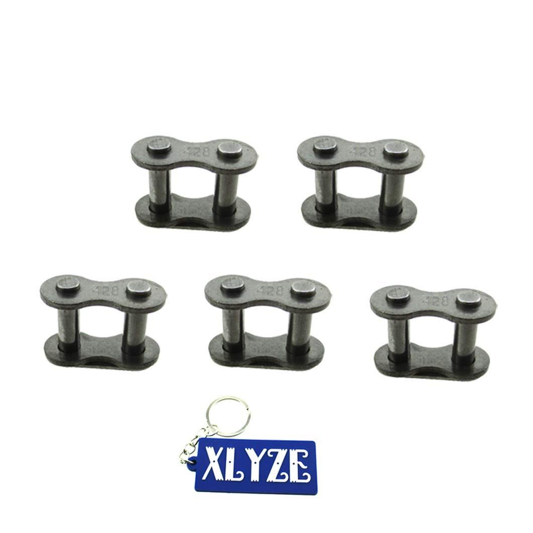 XLYZE 428 Chain Repair Kit Chain Master Link Clips for Chinese 50cc 70cc 90cc 110cc 125cc 140cc 150cc 160cc 200cc 250cc Pit Dirt Bike Thumpstar SSR ATV Quad Go Kart