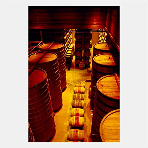 Wine Sterling Vineyards - eFrame Fine Art | Sterling Vineyards Wine Barrels Calistoga Napa Valley California by Blaine Harrington 12