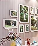 10 multi-frame photo wall solid wood carved racks photo wall wall photo frame wall simple modern European handmade (Shape : Diamond)
