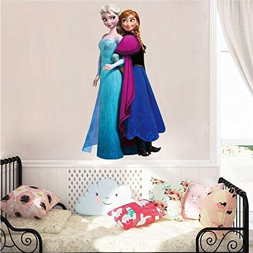 Cartoon Elsa Anna Prinzessin Gefroren Wandaufkleber Für Schwestern Raumdekoration Diy Anime Abziehbilder Film Wandbild Kunst Pvc Poster Multi Amazon De Baumarkt