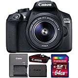 Canon EOS 1300D 18MP DSLR Camera + 18-55mm Lens + 64GB Memory Card