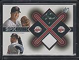 2001 SPx Eric Milton and Joe Mays Twins Dual Game Used Jersey Baseball Card #EM-JM