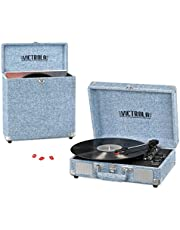 Victrola Record Player Bundle Includes a 3-Speed Turntable, Record Storage Case and  Needles