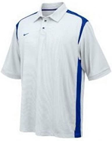 Corazzata grotta Indovina  Amazon.com: Nike Men's Dri-FIT Goal to Go Polo Shirt White Royal Blue Size  Large: Clothing