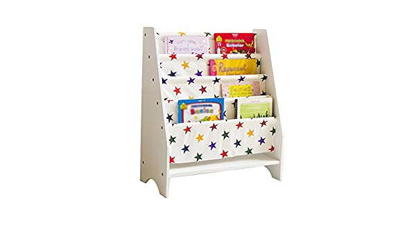 JH Estantería para Niños Simple De 4 Capas Floor-Frame Cartoon Books Lienzo Magazine Rack Blanco Tamaño 58 * 30 * 71cm ++ (Color : 1#): Amazon.es: Hogar