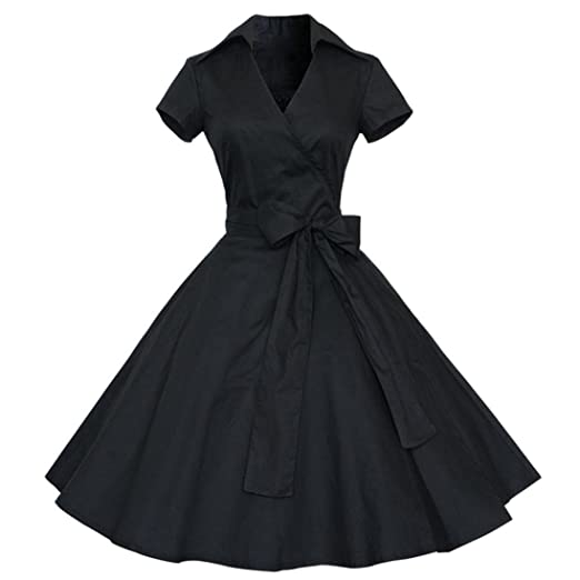 Amazon Teresamoon Hot Sale Women Party Vintage Dresses Skirt
