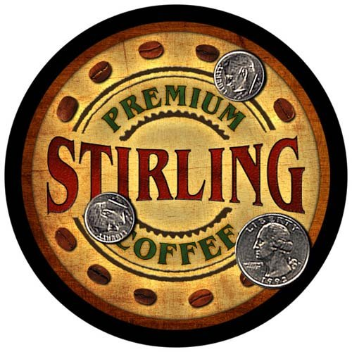 4 pack - Stirling Family Coffee Neoprene Drink Coasters ()