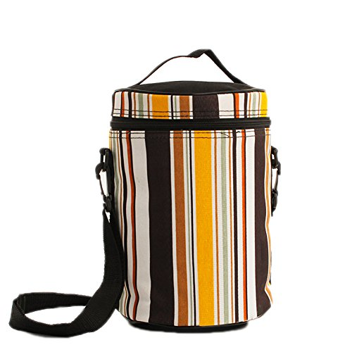 Chips 25 Free Drink - Ospard Stainless Steel Insulated Lunch Box (63, Bag Stripe)
