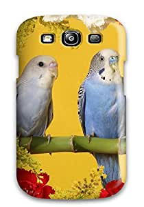 Brandy K. Fountain's Shop Best 4551163K84010579 New Arrival Cover Case With Nice Design For Galaxy S3- Budgerigars