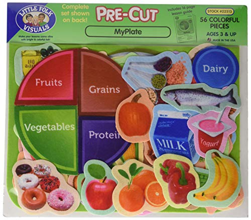 5 Food Pyramid (Little Folk Visuals Myplate Flannelboard Set Flannel Boards)