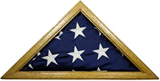 product image for Solid Light Oak Flag Case for 3 x 5' Nylon Flag, Military Missions or State Capital Size, USA Made