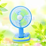 Shopybucket Table Rechargeable Fan With Hi-Bright Led Light ( Buy And Get 1 Pc Polo Tshirt Size L Free Worth 599 )
