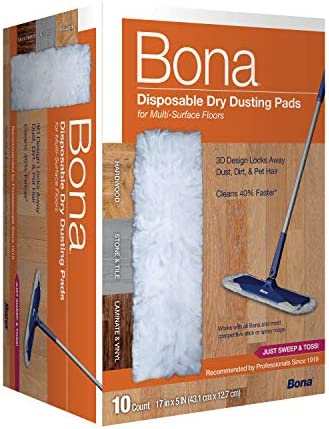 Bona MultiSurface Floor Disposable Dry Cleaning Pads