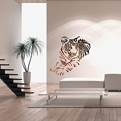 J BOUTIQUE STENCILS Wall Stencils Tiger Animal Large size Stencil Template  - for DIY Room Decor Wall Graffiti art