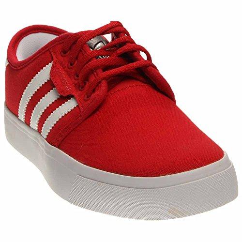 adidas Skateboarding Unisex Seeley J (Little Kid/Big Kid) University Red/White 5.5 Big Kid M
