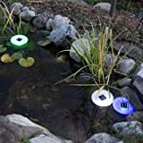 Solar LED Floating Light - Switchable Between White and Color-Changing LEDs