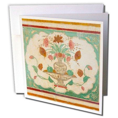 Danita Delimont - Inger Hogstrom - Artwork - Frescoes, Ganesh Pol, Amber Fort, Jaipur, Rajasthan, India. - 12 Greeting Cards with envelopes (gc_188190_2)