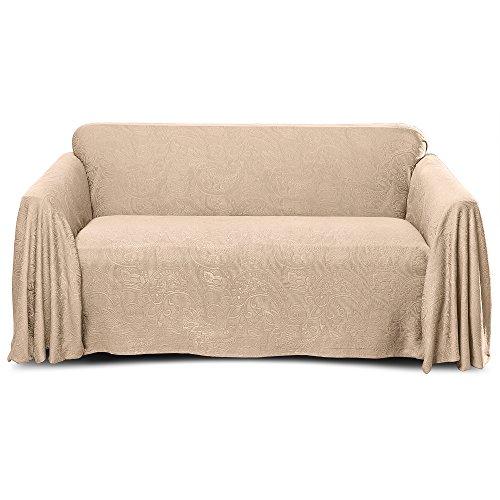 Stylemaster Alexandria Matelasse Large Sofa Furniture Throw, Beige
