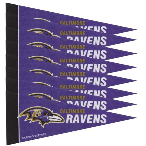 Baltimore Ravens Decorations - Baltimore Ravens 8 Piece Mini Pennant Set