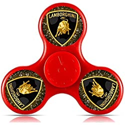 GGGfight-For Lamborghini logo Fidget Spinner High Speed Bearing ADHD Focus Anxiety Relief Toys for Children and Adults-red