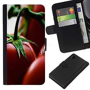 KLONGSHOP // Tirón de la caja Cartera de cuero con ranuras para tarjetas - Planta Naturaleza Forrest Flor 76 - Sony Xperia Z1 L39 //