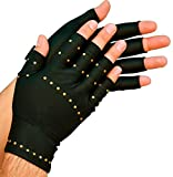 Total Copper Infused Embedded Dual Hand Supports, Black, 6 Count