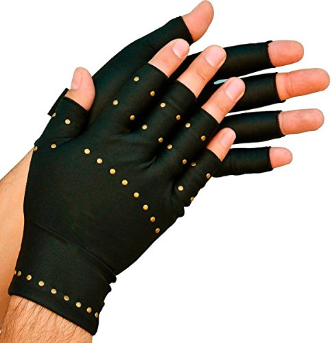 Total Copper Infused Embedded Dual Hand Supports, Black, 6 Count by Total Copper