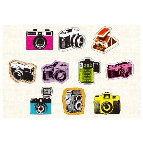 Mind Wave Pegatinas de Colores con Lindas cámaras de Fotos Retro ...