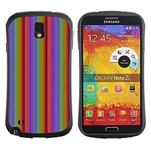DesignCase Premium TPU / ABS Hybrid Back Case Cover Samsung Galaxy Note 3 III ( vertical line )