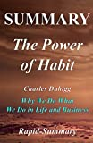 Best Habit Books - Summary | The Power of Habit: By Charles Review