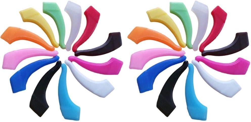 ARTLILY 12 pares de gafas gancho para la oreja, gafas de silicona, agarre, almohadillas para la oreja, soporte antideslizante (cada par para diferentes colores)
