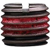 "E-Z Lok Externally Threaded Insert, C12L14 Carbon Steel, Meets AISI 12L14, 5/16""-18 Internal Threads, 1/2""-13 External Threads, 0.484"" Length, Made in US (Pack of 10)"