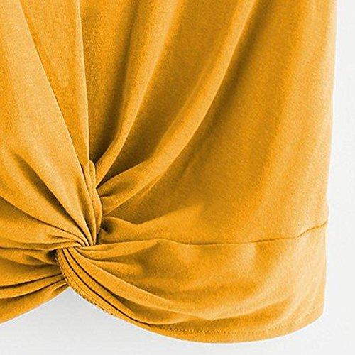 Donna Canotta Casual Donna Magliette Vestiti Tops Canotta Donna Striscia Manica Tank Estivi Vest Top Canottiere Giallo Tops T Weant Sexy Shirt Donna Casual Elegante C Donna Felpe Canotta Crop 0UFHXS