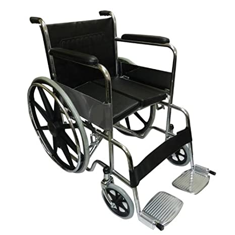 1bd7d39a468 KosmoCare Dura Hard Cushion Regular Foldable Wheelchair with Padded Seat