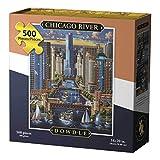 D·O·W·D·L·E Dowdle Jigsaw Puzzle - Chicago River - 500 Piece