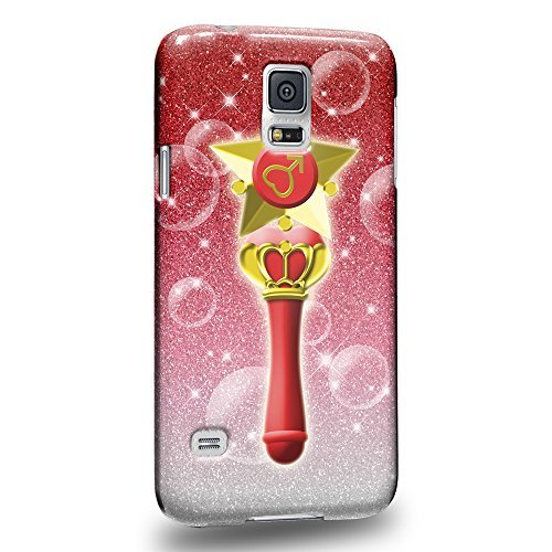 Case88 Premium Designs Art Sailor Moon Crystal Sailor Mars Wand Protective Snap-on Hard Back Case Cover for Samsung Galaxy S5