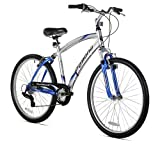 Northwoods Pomona Men's Dual Suspension Comfort Bike, 26-Inch