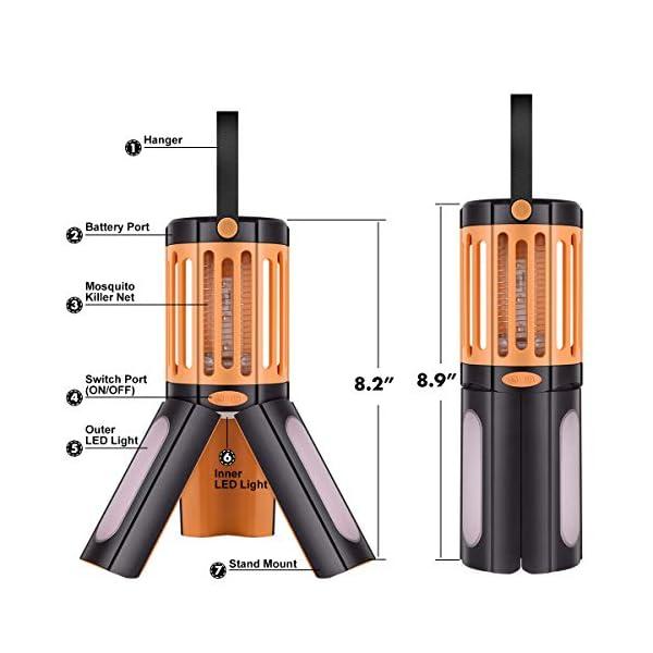seenlast Lampada Antizanzara Elettrica, 2-in-1 Zanzariera All'aperto Luce UV Campeggio Repellente Trappola Zanzare… 5 spesavip