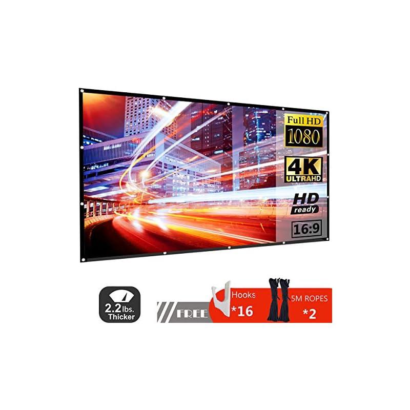 120 Inch Projector Screen 16:9 HD Foldab
