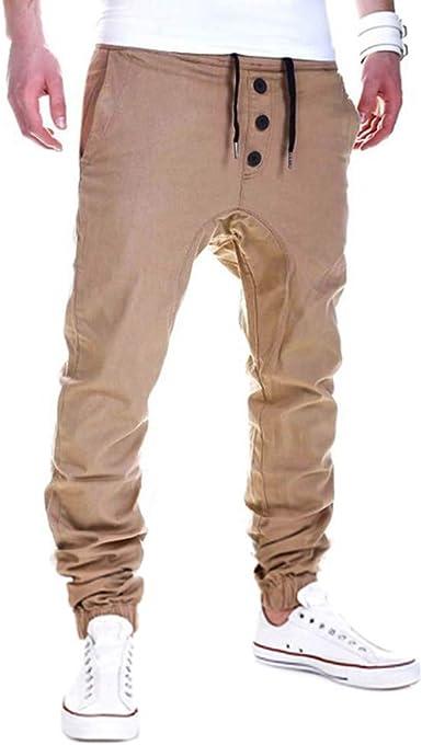 Pantalones Hombre, JiaMeng Hombres Casuales Jogging Pantalones ...
