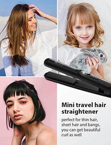 KIPOZI Mini Straightener Small Flat Irons for Short Hair 07 Inch Mini Travel Hair Straightener for